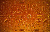 Oriental ornamented door in Marrakesh — Stock Photo
