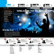 Music Website Template - Vector Design — Imagen vectorial