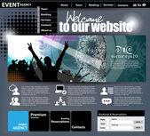 Music Website Template — Stock Vector