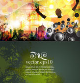 Crowd at the music concert. Vector — Stock Vector