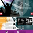 Stock Vector: Music Website Template