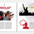 Stock Vector: Magazine template.