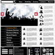 Music Website Template — Stock Vector