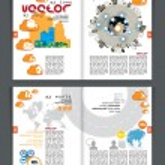 Magazine layout. — Stock Vector
