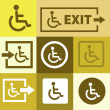 Editable icon of handicap or wheelchair person — Imagen vectorial