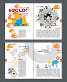 Magazine layout. — Stock Vector