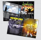 Template music event magazine — Stock Vector