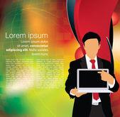 Businessman laptop template — Stockvektor