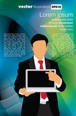 Modello portatile di uomo d'affari — Vettoriale Stock