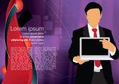 Businessman laptop template — Stock Vector