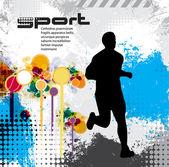 Sport illustration — Stockvektor