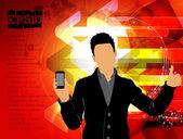 Mann mit smartphone. — Stockvektor
