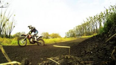 Motorcross sport competition — Stock Video