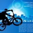BMX cyclist — Stockvectorbeeld