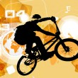 Stock Vector: BMX cyclist