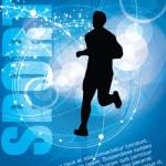 Runner silhouette — Stock Vector