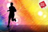 Runner siluet — Stok Vektör