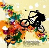 Sfondo astratto ciclista — Vettoriale Stock