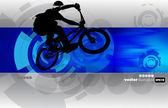 BMX cyclist — Stock Vector