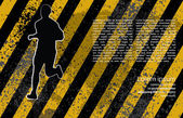 Runner grunge background — Stockvektor