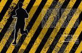 Runner grunge background — Vettoriale Stock