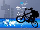 Fond de technologie cycliste — Vecteur