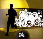 Runner silhouet — Stockvector