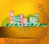 City skyline background — Stock Photo