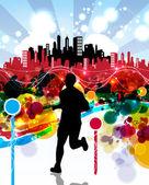 Runner illustration — Foto Stock