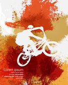 BMX cyclist illustration — Vector de stock