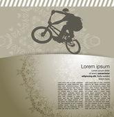 BMX cyclist illustration — Stock Vector
