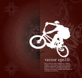 BMX cyclist illustration — Stock Vector