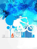 Ciclista bmx sport — Foto Stock