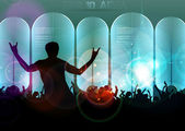 Music event background. — Stock Vector