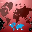 Vector world map illustration — Vector de stock #39374917