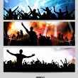 Music banners set. — Stock Vector