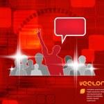 Social media concept. — Stock Vector #39375303