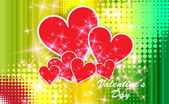 Red Valentine Hearts — Stock Vector