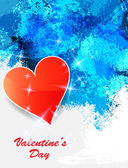Heart valentines day background. — Stock Vector