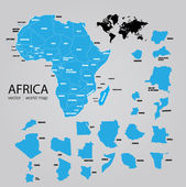 Map of Africa. — Stock Vector