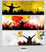 Music banner set. — Stock Vector