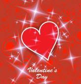 Serce Walentynki tło. — Wektor stockowy