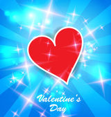 Valentine's day background with heart — Stock Vector