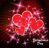 Feliz día de san valentín corazones — Vector de stock