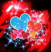 Happy Valentines Day Hearts — Stock Vector