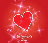Herz valentinstag hintergrund. — Stockvektor