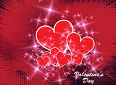 Valentine card. — Vector de stock
