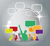 Concept de médias sociaux. — Vecteur