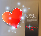 Heart valentines day background — Stock Vector