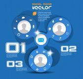 Social Media and network illustration. — Stock Vector